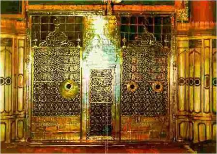 Pintu makam Nabi Muhammad SAW